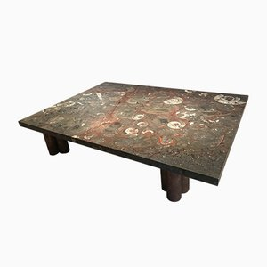 Large Vintage Stone Coffee Table