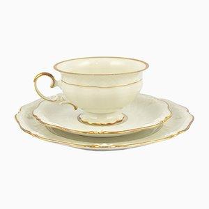 Tazzina da tè, piattino e piatto di La Reine Meiss Efchenbach, Germania, anni '70, set di 3
