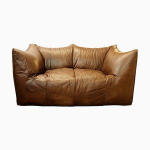 Italian Dolls Brown Leather Sofa by Mario Bellini for B&B Italia/C&B Italia, 1970s