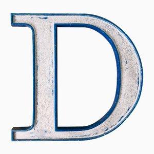 Vintage Buchstabe D aus Metall
