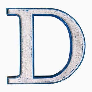 Vintage Metal Letter D