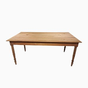 Mesa de comedor de granja vintage de madera de cerezo