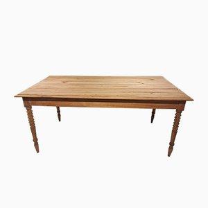 Vintage Cherry Wood Farmhouse Dining Table