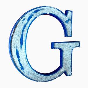 Lettre G Vintage en Métal
