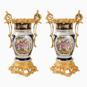 Antique Porcelain Vases, Set of 2