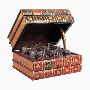 Vintage Aperitif Glass Case, 1940s
