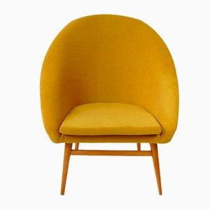 Gelber Shell Stuhl, 1960er