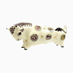 British Bull Figurine by Arnold Machin & Eric Ravilious for Wedgwood, 1940s