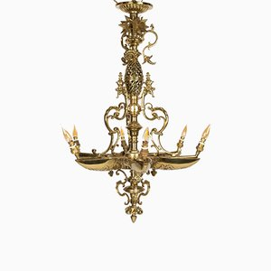 Antique Napoleon III Gilded Bronze Chandelier