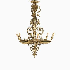 Antique Napoleon III Gilded Bronze Chandelier