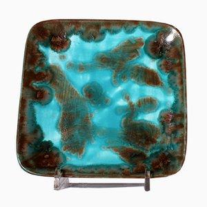 Assiette en Céramique par Alf Gaudenzi pour Ceramiche d'Arte Genova, Italie, 1950s