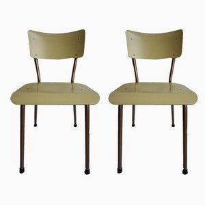 Niederländische Vintage Esszimmerstühle von Dico Uden, 1950er, 2er Set
