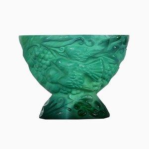 Schale aus Farbglas von Schlevogt, 1920er