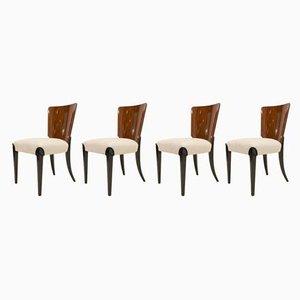 Chaises de Salle à Manger Modèle H214 Vintage par Jindřich Halabala, Set de 4