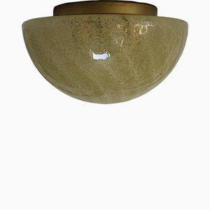 Lampada ad incasso in vetro di Murano di Doria Leuchten, anni '70
