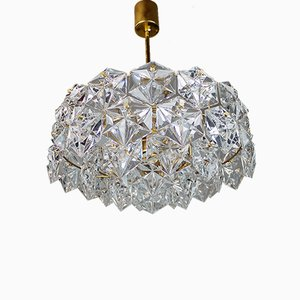 Gold-Plated Crystal and Brass Chandelier from Kinkeldey, 1960s