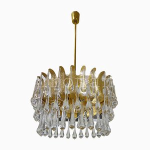Teardrop Waterfall Chandelier by Christoph Palme for Palwa, 1970s
