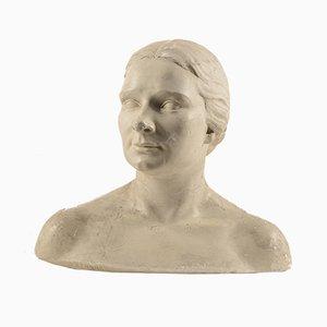 Italian Plaster Bust by Zennaro, 1930s