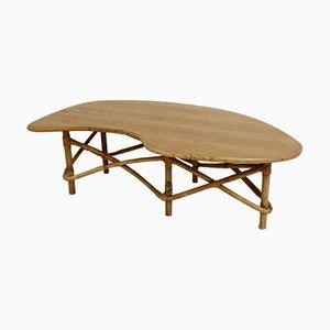 Mesa de centro Free Form de bambú, años 50