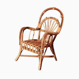 Chaise pour Enfant en Osier, 1950s