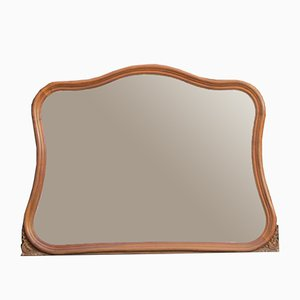 Vintage Walnut Mirror, 1920s