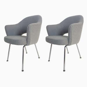 Poltrone esecutive di Eero Saarinen per Knoll Inc. / Knoll International, anni '50, set di 2