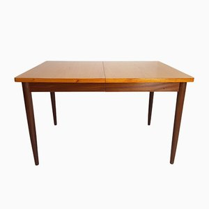 Large Scandinavian Teak Extendable Dining Table, 1960s