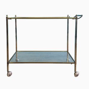 Mid-Century French Brass Trolley