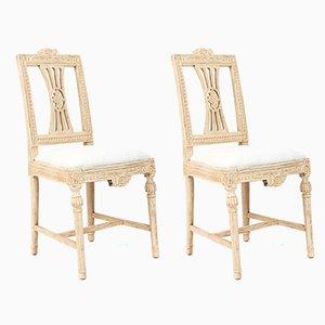 Antike gustavianische Lindome Beistellstühle von Ephraim Stahl, 2er Set