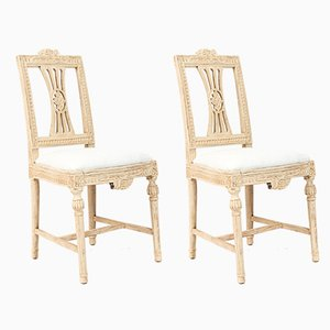 Antique Gustavian Lindome Side Chairs from Ephraim Stahl, Set of 2