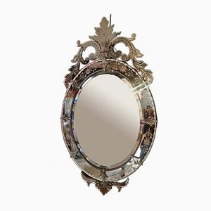 Large Antique Italian Murano Glass Mirror