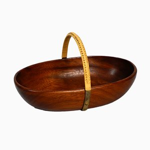 Large Mid-Century Teak Bowl by Carl Auböck, 1950s