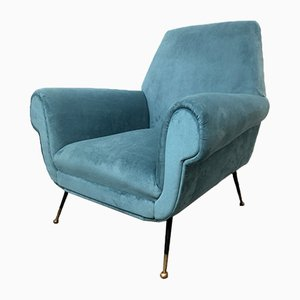 Vintage Italian Lounge Chair by Gigi Radice, 1950s
