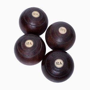 Vintage Balls, 1940s, Set of 4