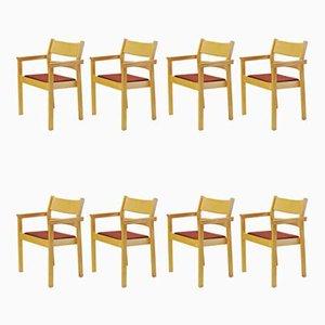 Armlehnstühle aus Buche von Hans J. Wegner für Fredericia Stolefabrik, 1980er, 8er Set