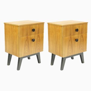 Oak Nightstands, 1960s, Set of 2