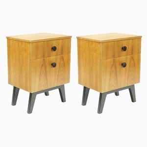 Tables de Chevet en Chêne, 1960s, Set de 2