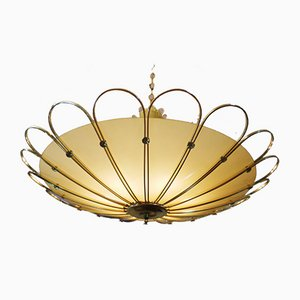 Mid-Century Ceiling Lamp from Rupert Nikoll, 1950s