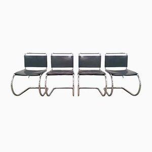Sedie da pranzo di Ludwig Mies van der Rohe per Knoll Inc. / Knoll International, anni '70, set di 4