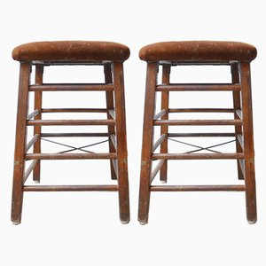 Gym Bar Stools, 1950s, Set of 2