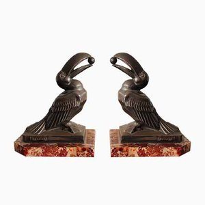 Vintage Art Deco Bookends by Maurice Frecourt, 1930s, Set of 2