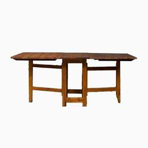 Mesa de granja danesa vintage de madera de pino