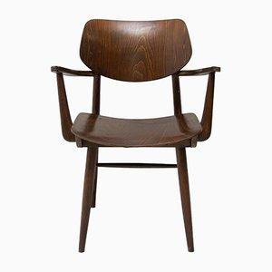 Mid-Century Beech Desk Chair from TON, 1960s