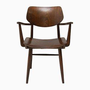 Sedia da scrivania Mid-Century in faggio di TON, anni '60