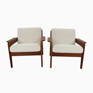 Danish Teak Lounge Chairs by Arne Wahl Iversen for Komfort, 1960s, Set of 2