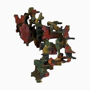 Escultura de pared de cerámica de Marcello Fantoni, años 70
