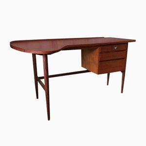Danish Teak Boomerang Desk, 1960s