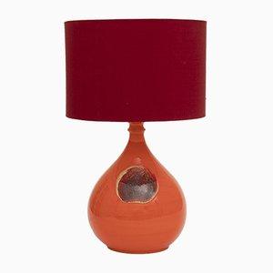 Orangenfarbene deutsche Tischlampe aus Keramik von Bjørn Wiinblad für Rosenthal, 1970er