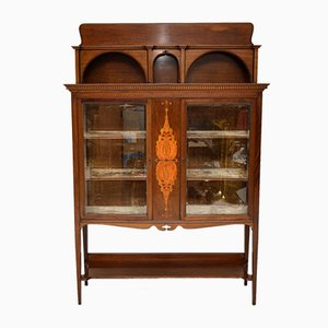 Antique Inlaid Mahogany Cabinet