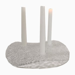 Moderner skandinavischer Kerzenhalter von Uno Westerberg für Pukeberg Glasbruk, 1970er
